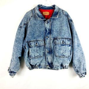 Vintage 80's Levi's Puffy Acid Denim Jean Jacket